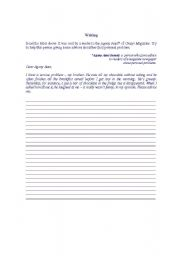English Worksheets: Writing - giving advices