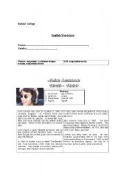 English Worksheets: lenon