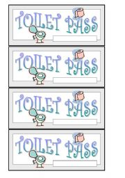English Worksheets: Toilet pass