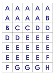 English Worksheets: Scrabble Tiles (upper case)