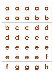 English Worksheets: Scrabble Tiles (lower case)
