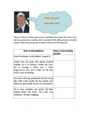 English Worksheets: How to describe characters? (Worksheet 1) (Attached to ppt)