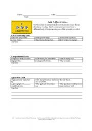 English Worksheets: Writing Leveled Questions
