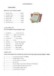 Review exercises for elementary levels