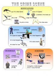 English Worksheets: Crime scene vocabulary