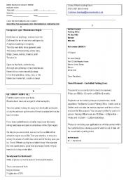 English Worksheets: types of text