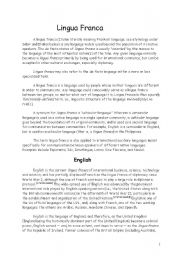 English Worksheets: lingua franca