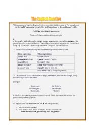 English Worksheets: The English Genitive