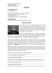 English Worksheets: volcanoes