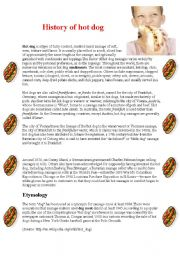 The history of hot dog