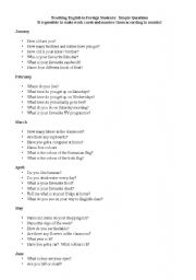 English Worksheets: Simple Questions