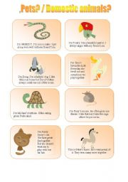 English Worksheet: Whose animal is it?  /  Pets /Domestic animals