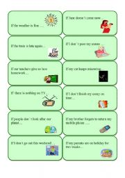 English Worksheets: First conditional cards