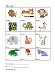 English Worksheets: What is this ?