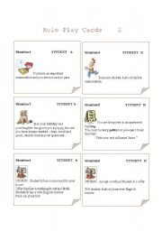 Role play cards  Set 2