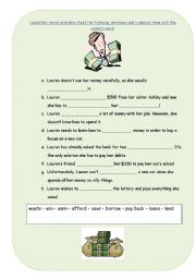 English Worksheets: Money Problems