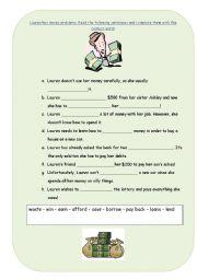 English Worksheet: Money Problems