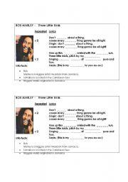 English Worksheets: Bob Marley - Three Little Birds (Listening)