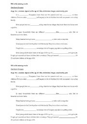English Worksheet: Families in Hungary