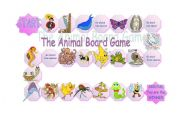 English Worksheets: Board game -Animals