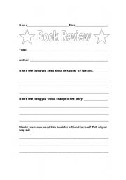English Worksheets: Book Review