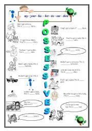 English Worksheets: POSSESSIVES