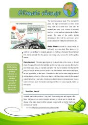 English Worksheet: Climate change