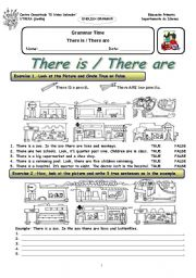 English Worksheet: There is / There are EXERCISE