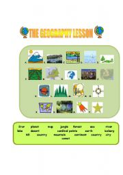 English Worksheets: Geography