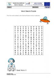 English Worksheets: Word Puzzle - Science Fiction