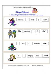 Printables Building Sentences Worksheets sentences worksheets davezan building davezan
