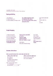 English Worksheets: buying and selling