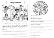 English Worksheet: Our Daily routines