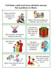 English Worksheet: Conversation Cards 2 of 8