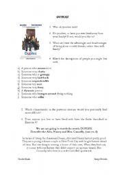 English Worksheets: Movie Duplex