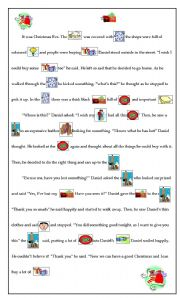 English worksheet: The lost wallet