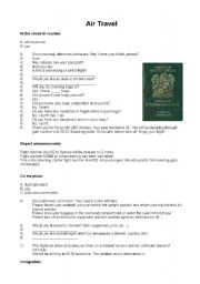 English Worksheet: Airport Conversations