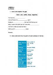 English Worksheets: Rihanna