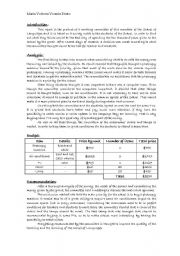 English Worksheets: Recomendation report