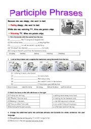 Exercises on Participles (Part2-Participle pharses)