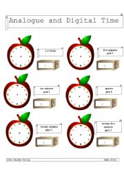 English teaching worksheets: The clock