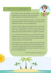 English Worksheet: Surviving on a desert island