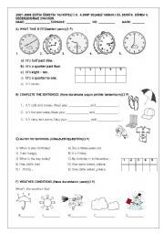 English Worksheets: ELEMENTARY REVISION