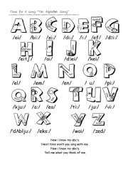 English Worksheet: The Alphabet Song