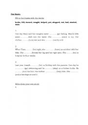 English Worksheets: Simpla Past Practice