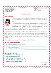 English Worksheets: readings