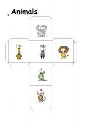 English Worksheets: Animal dice