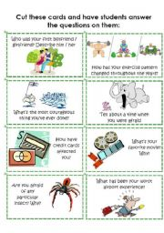 English Worksheet: Conversation Cards 4 of 8