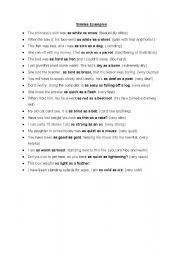 English Worksheets: Simlies