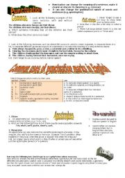 English Worksheet: Punctuation